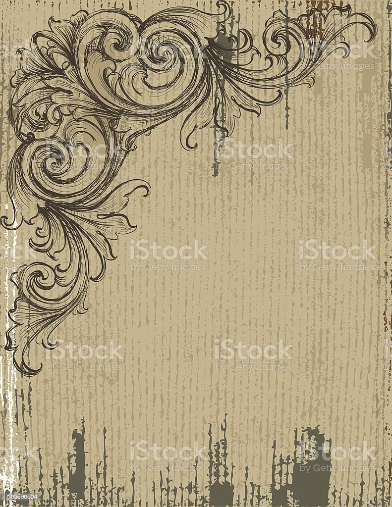Sketched Scroll Grunge Background royalty-free sketched scroll grunge background stock vector art & more images of abstract