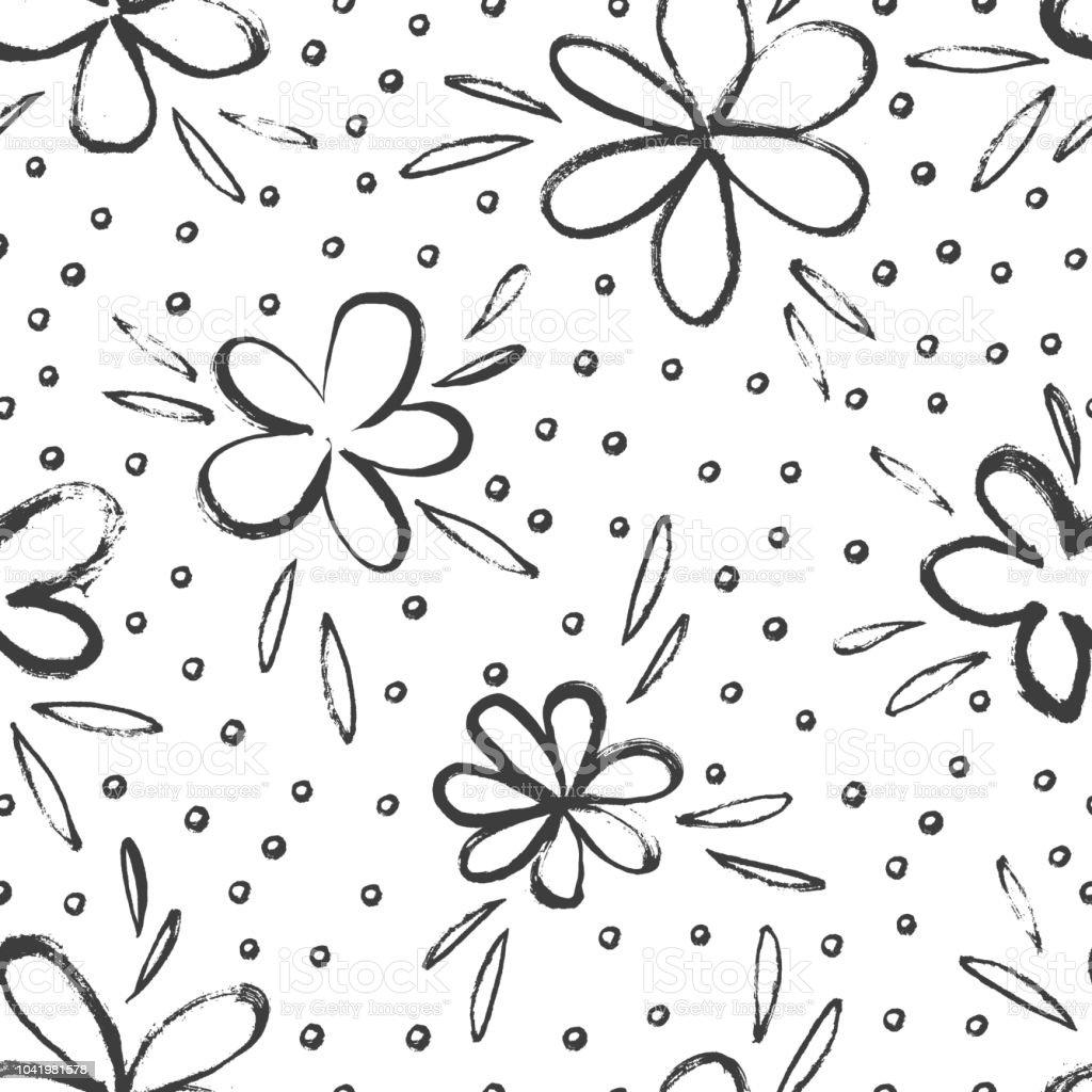 Dessin Fleurs Simples Esquissee Cliparts Vectoriels Et Plus D
