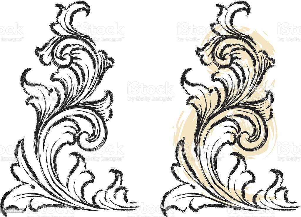 Sketched Vertical Scrolls royalty-free sketched vertical scrolls stock vector art & more images of at the edge of