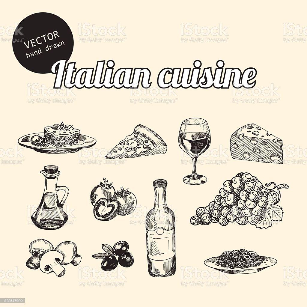 Disegni Di Cucina Italiana - Immagini vettoriali stock e altre ...