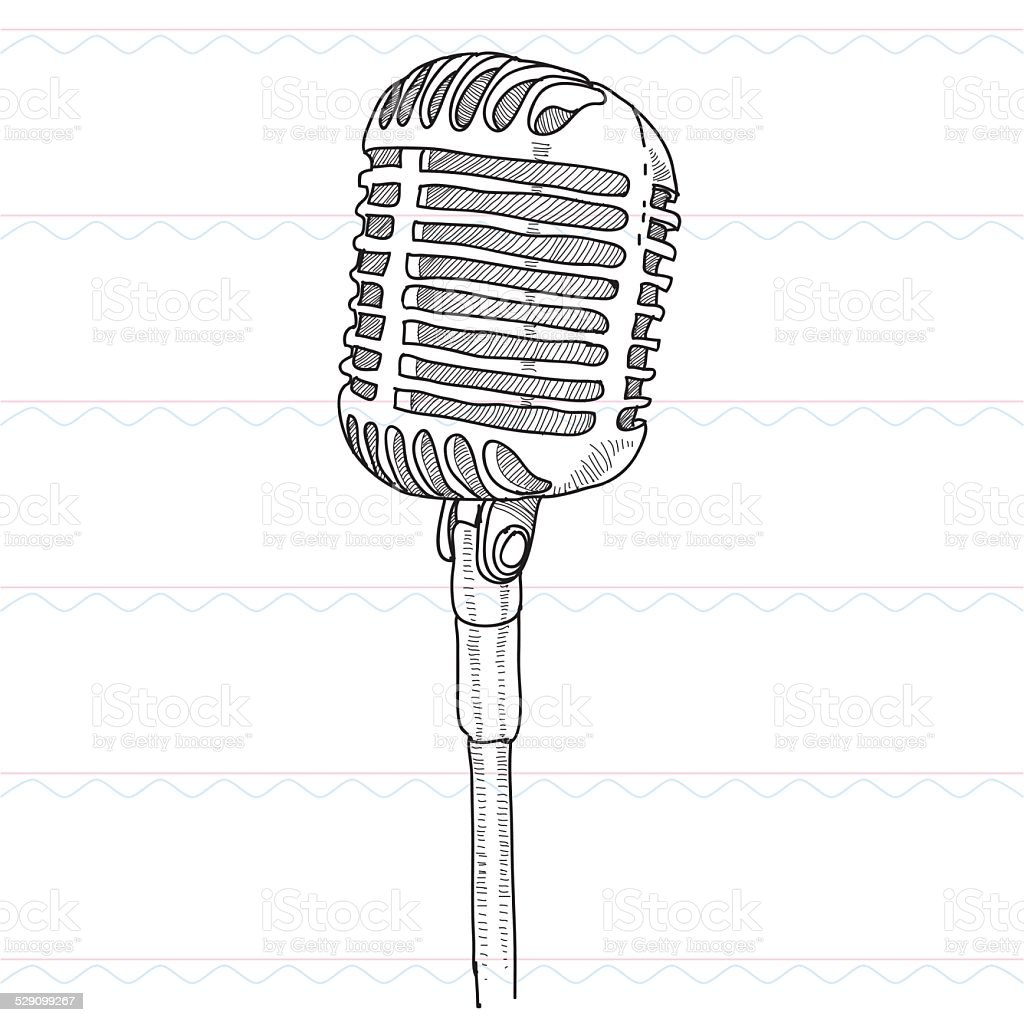 sketchmicrophone sound musict stock vector art  u0026 more