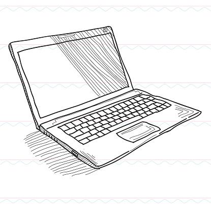 Sketch,Notebook computer