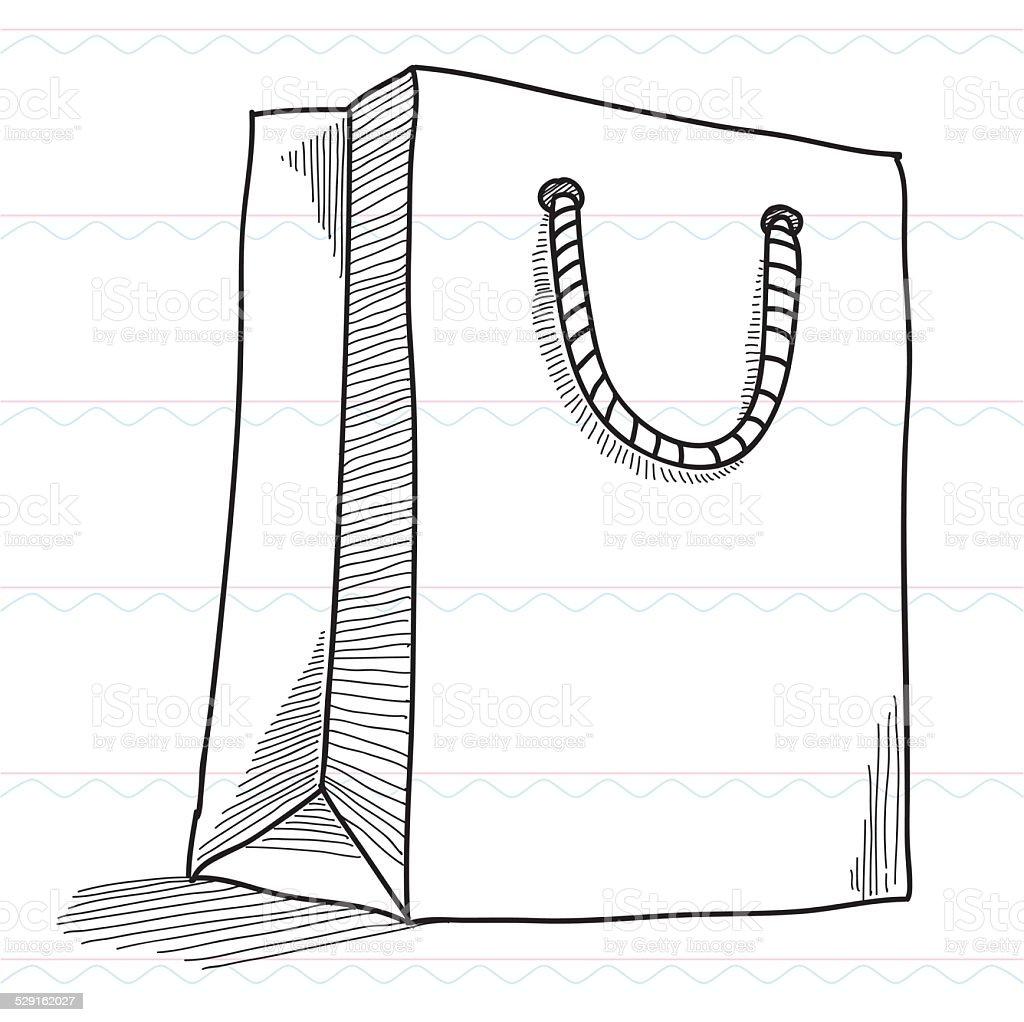 croquis sac de shopping boutiques stock vecteur libres de droits 529162027 istock. Black Bedroom Furniture Sets. Home Design Ideas