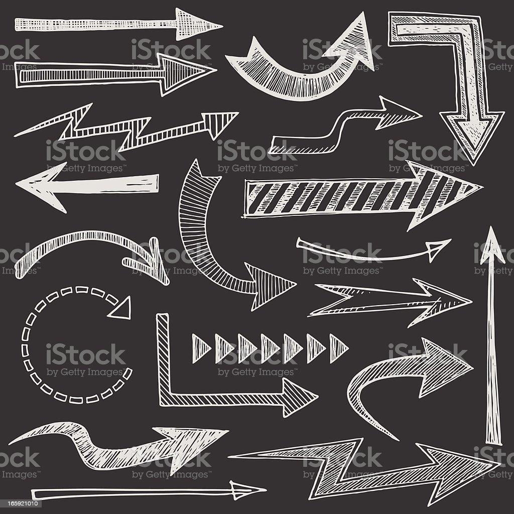 Sketchy Arrows royalty-free sketchy arrows stock vector art & more images of arrow symbol