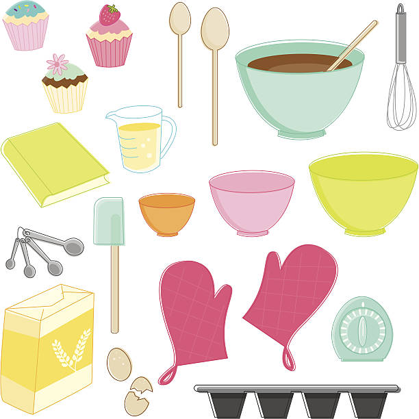 sketchy baking essentials - mixing bowl stock illustrations, clip art, cartoons, & icons