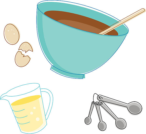 sketchy baking - mixing bowl stock illustrations, clip art, cartoons, & icons