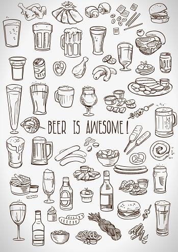 sketchy beer and snacks