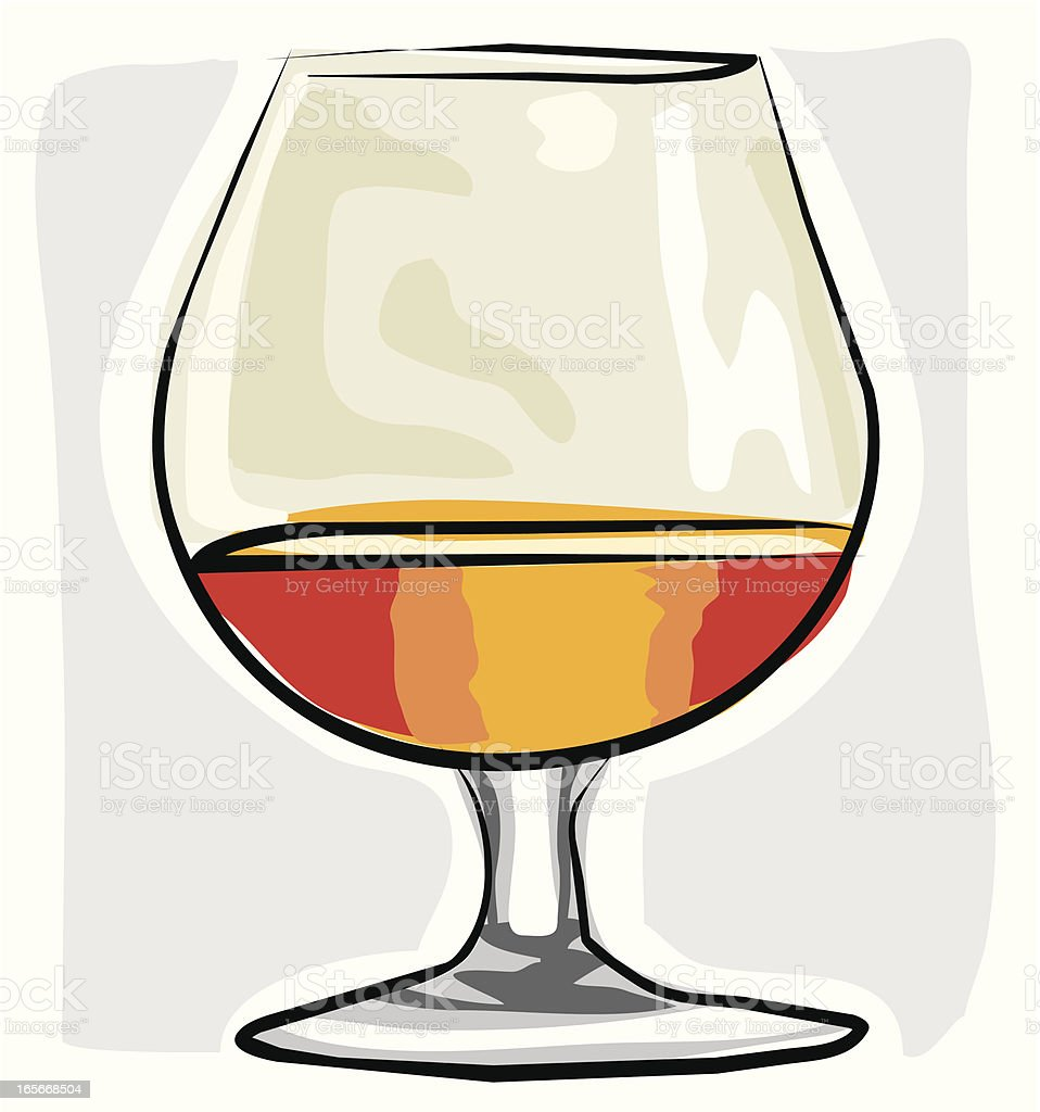 Sketchy Brandy Glass royalty-free sketchy brandy glass stock vector art & more images of alcohol