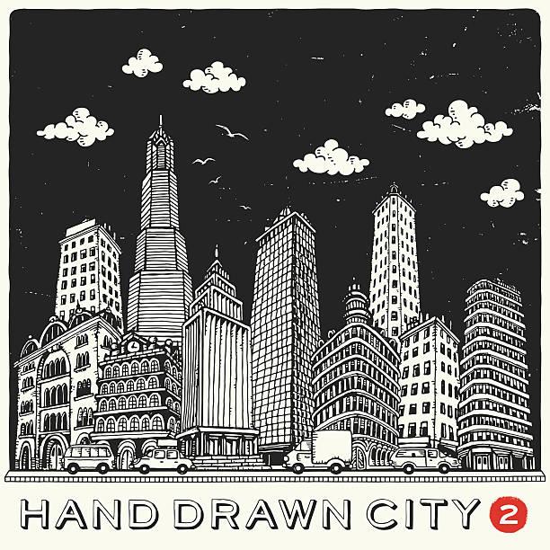 スケッチ風の建物 - 漫画の風景点のイラスト素材/クリップアート素材/マンガ素材/アイコン素材