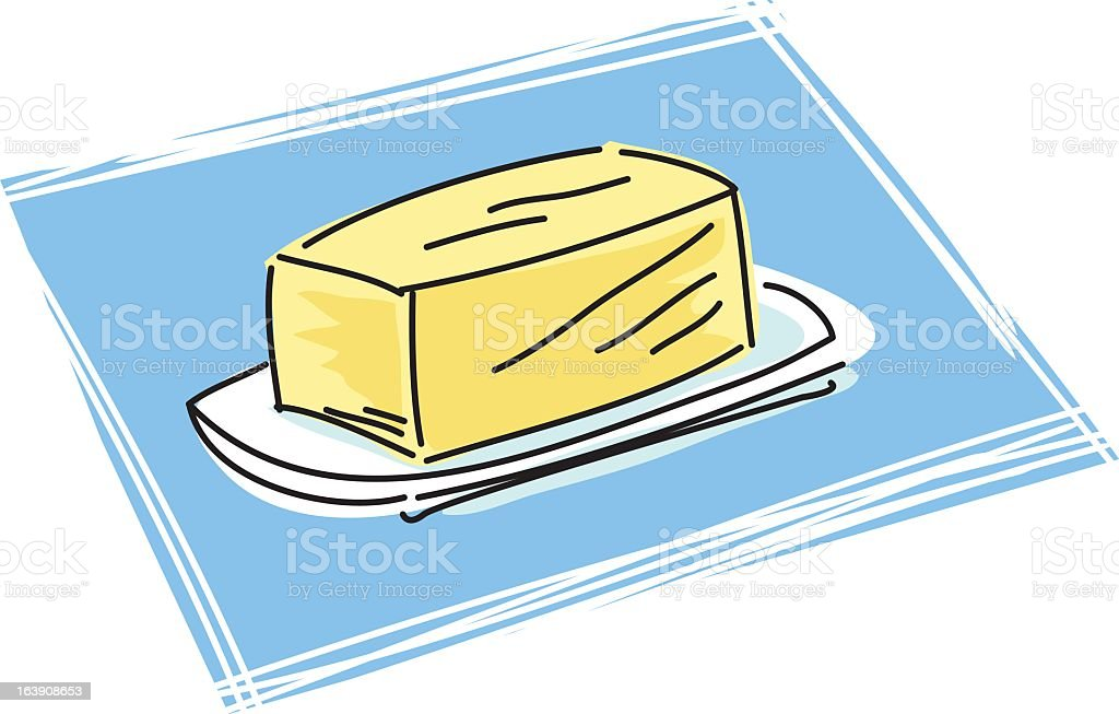 Sketchy Butter Icon royalty-free stock vector art