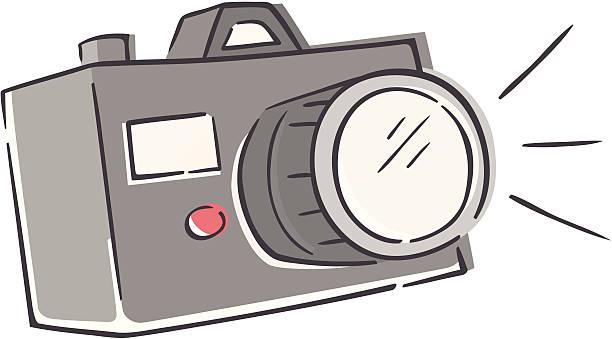 Sketchy Camera vector art illustration