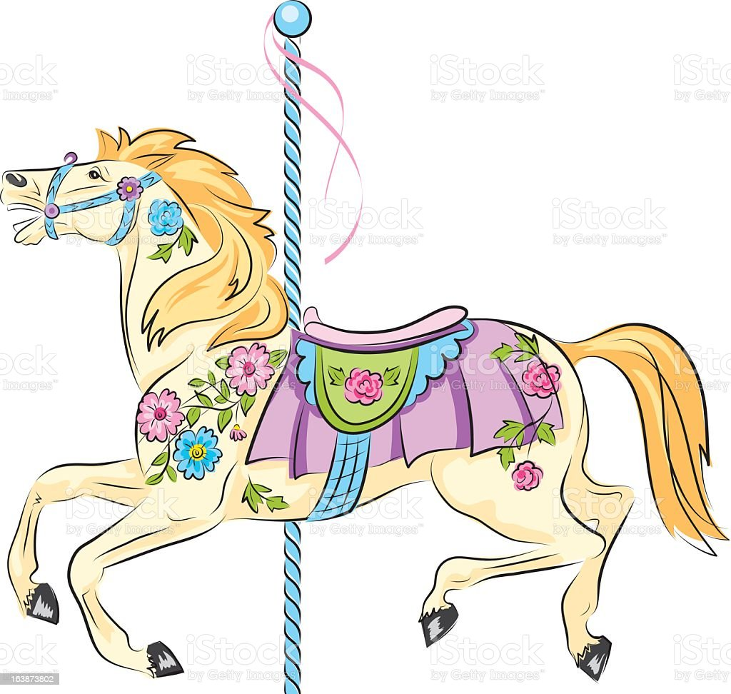 Sketchy Carousel Horse royalty-free stock vector art