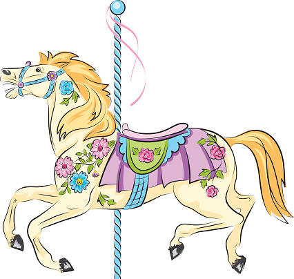 Sketchy Carousel Horse