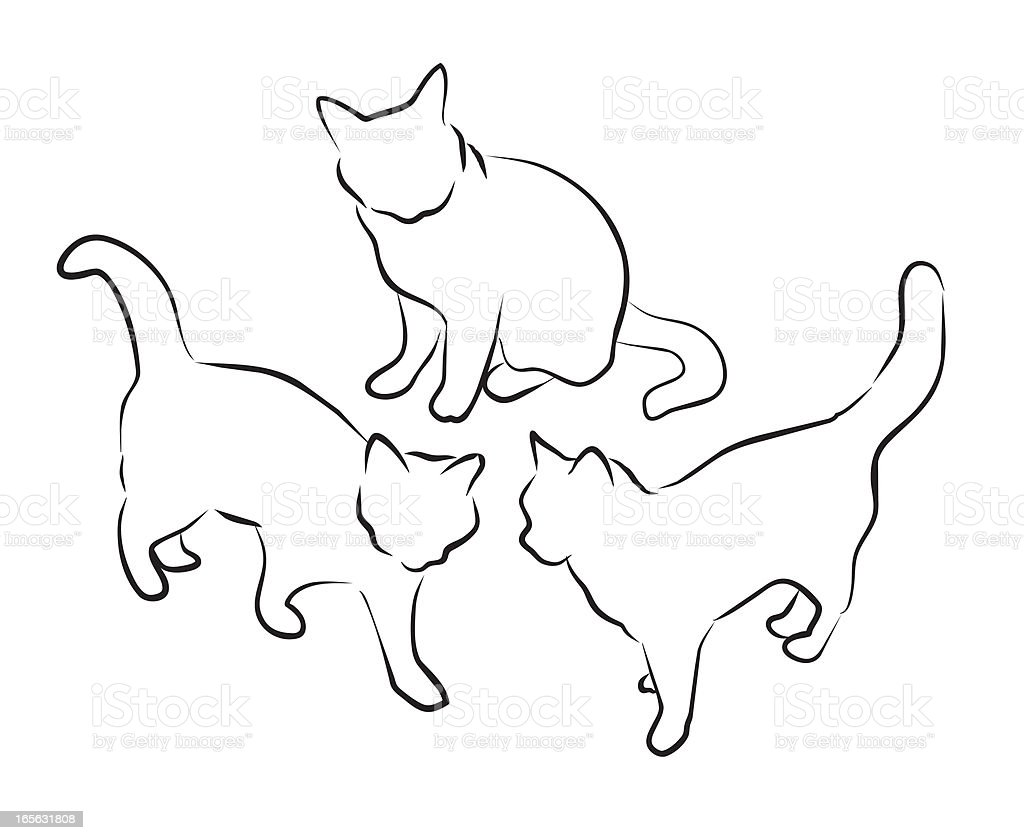 Sketchy Cats royalty-free sketchy cats stock vector art & more images of animal