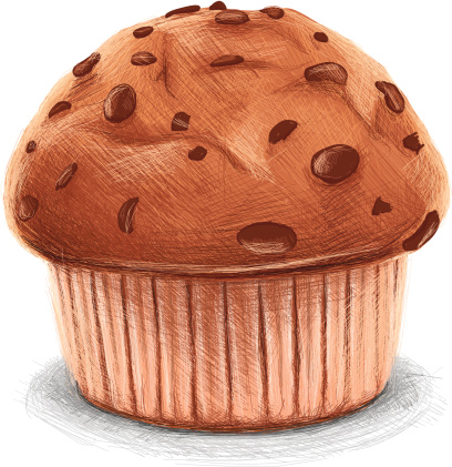sketchy chocolate muffin