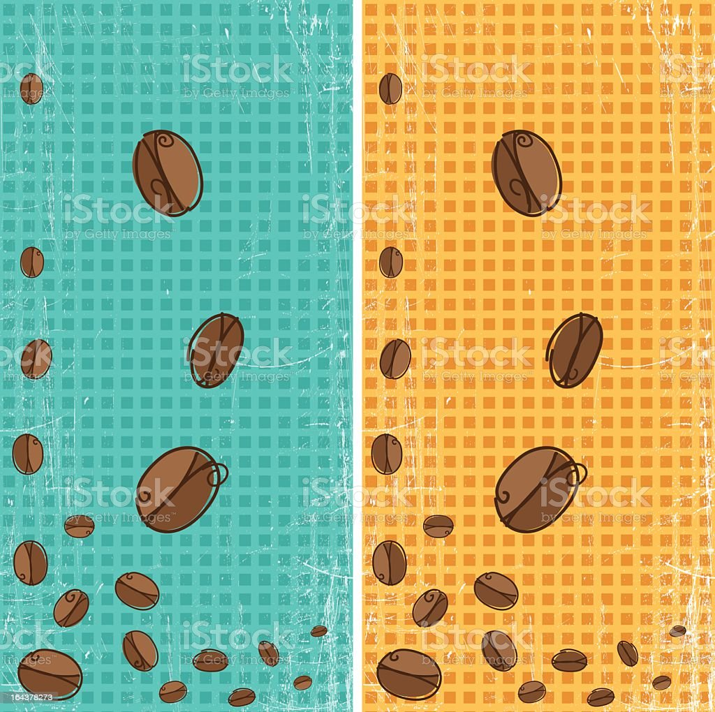 Sketchy Coffee Bean Borders royalty-free stock vector art