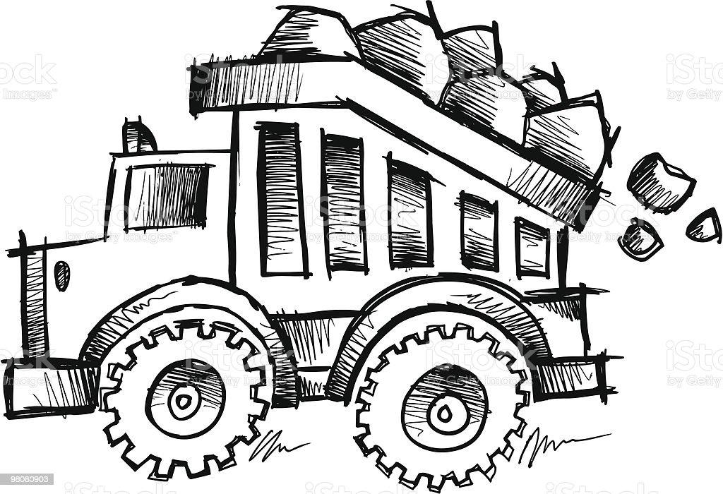 Scarabocchio Dumptruck discreti scarabocchio dumptruck discreti - immagini vettoriali stock e altre immagini di autocarro ribaltabile royalty-free
