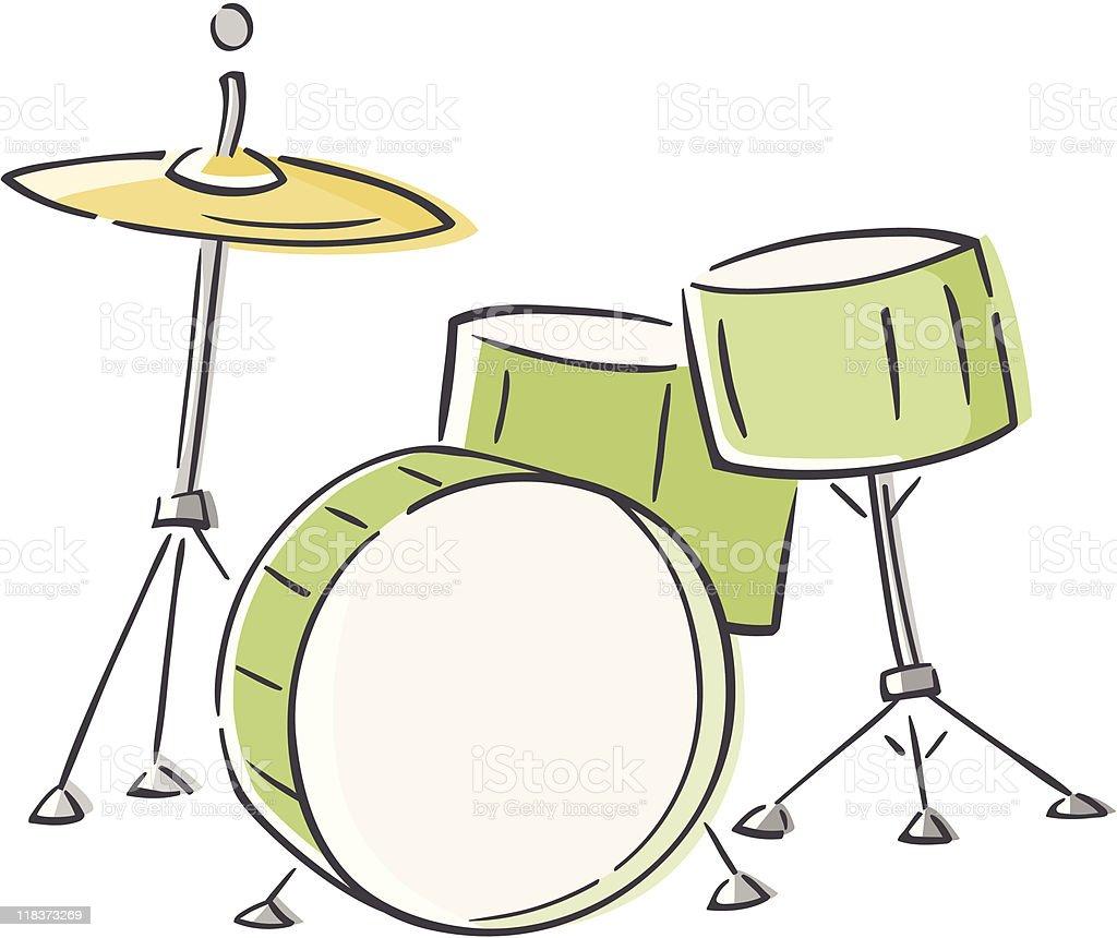 Skizzenhafte Drum Set Stock Vektor Art und mehr Bilder von ...