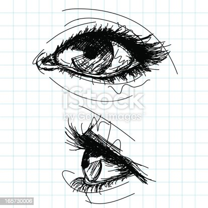 istock sketchy female eyes 165730006