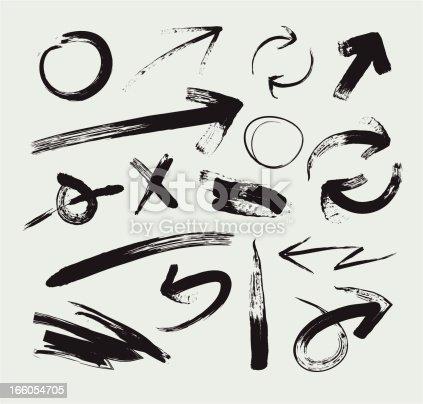 Sketchy Grunge Arrows