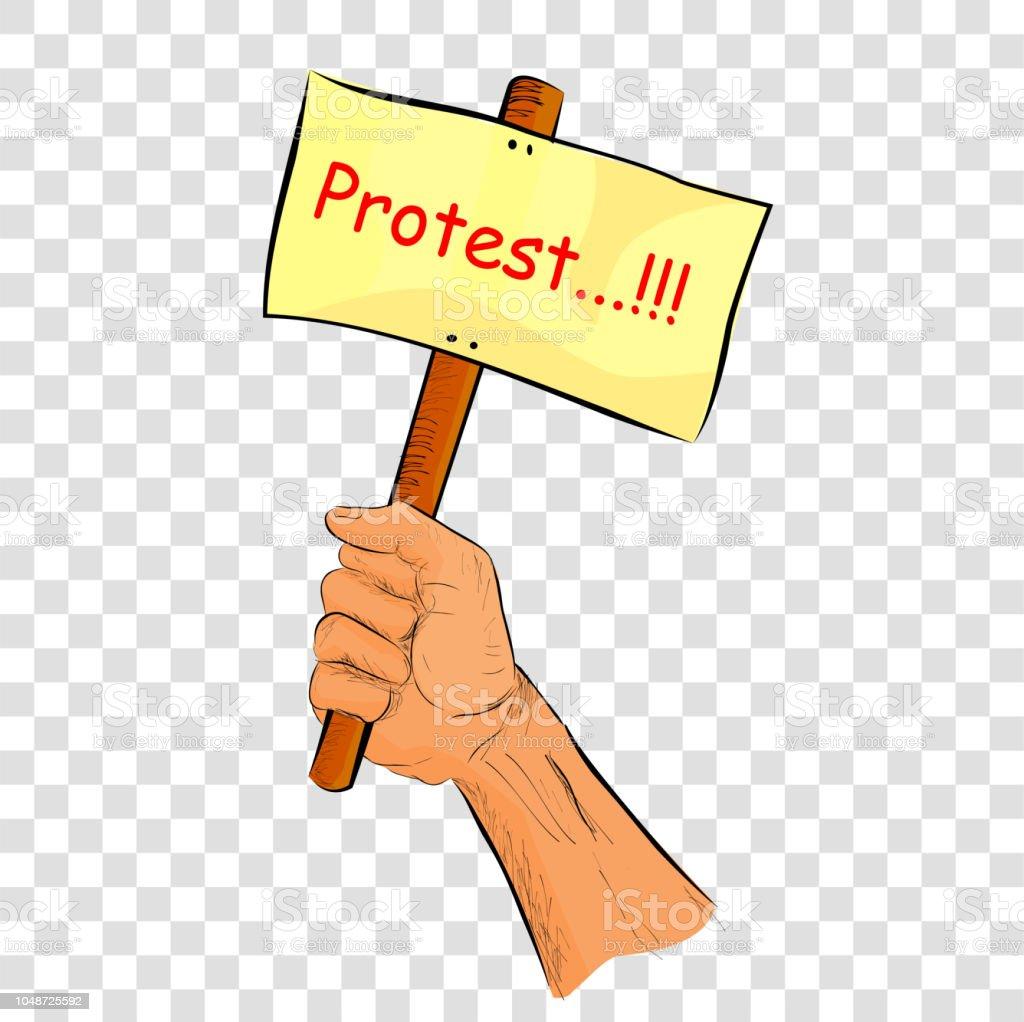 Illustration Sommaire Pour Demonstration Ou Protestation Vecteurs Libres De Droits Et Plus D Images Vectorielles De Cartoon Istock