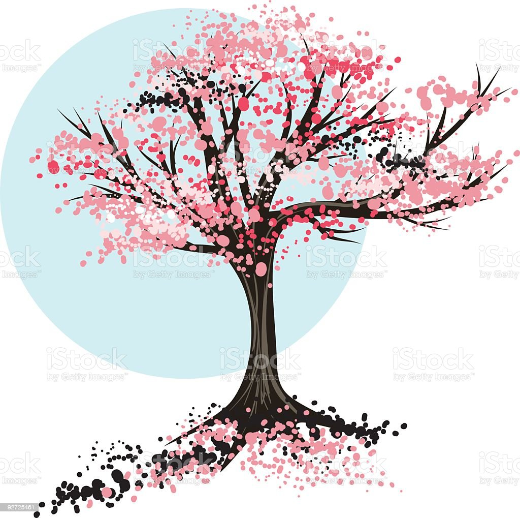 royalty free cherry tree clip art vector images illustrations rh istockphoto com cherry blossom tree clip art cherry blossom clip art free