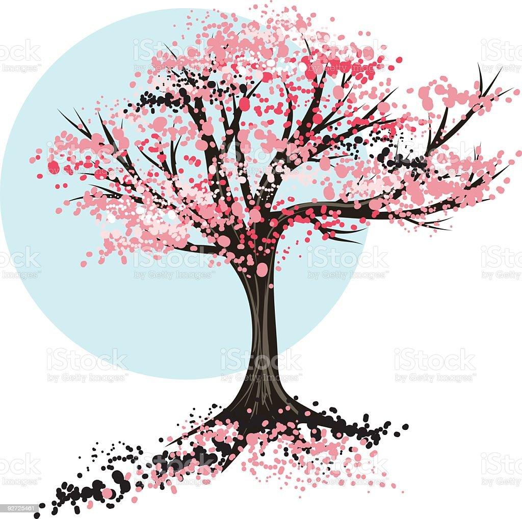 royalty free cherry tree clip art vector images illustrations rh istockphoto com cherry blossom clip art free to download cherry blossom clip art borders