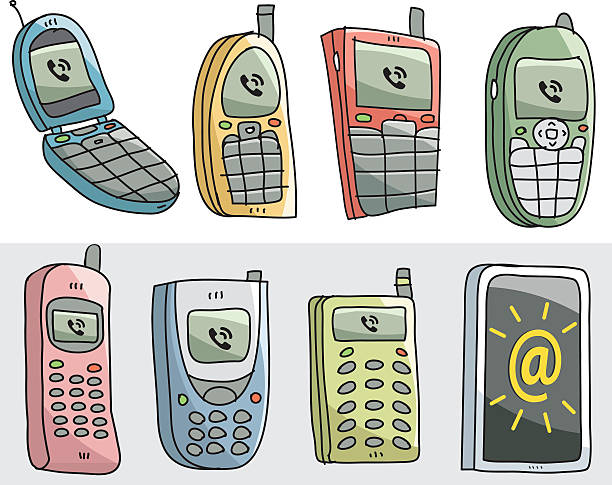 Royalty Free Old Mobile Phone Clip Art, Vector Images ...Old Cell Phone Clip Art