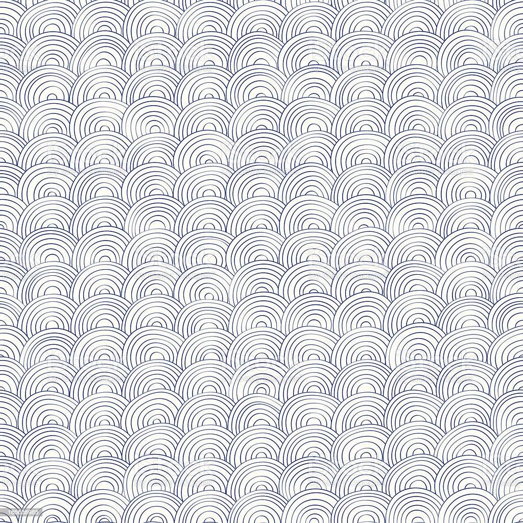 Sketchy seamless ripples vector art illustration