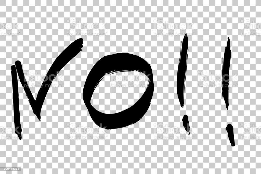 Sketchy Sign No, Big Marker, at Transparent Effect Background sketchy sign no big marker at transparent effect background - stockowe grafiki wektorowe i więcej obrazów anulowanie royalty-free