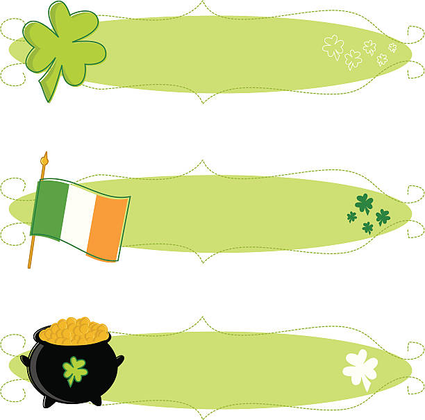 Sketchy St. Patrick's Day Banners vector art illustration