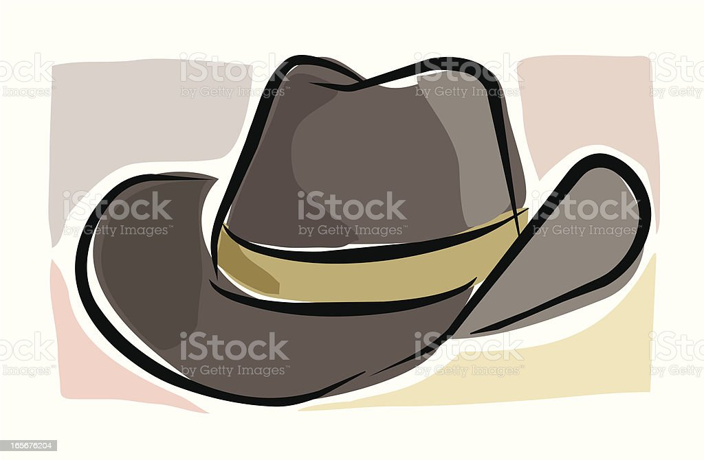 Sketchy Stetson royalty-free stock vector art