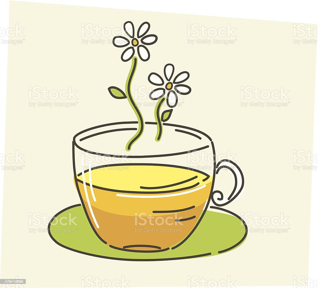 Sketchy Style Chamomile Tea Icon royalty-free stock vector art