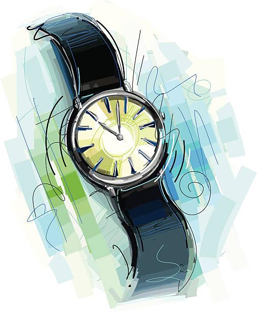 bildbanksillustrationer, clip art samt tecknat material och ikoner med sketchy watch - armbandsur