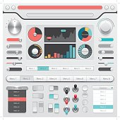 skeuomorphic user interface buttons and design