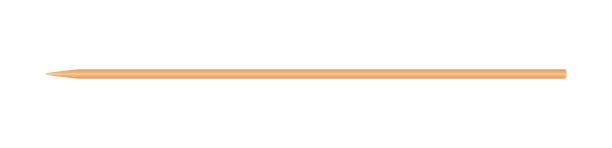 skewers wooden bamboo pointed tip stick thin isolated on white background, wood skewers used to hold pieces foods, tipped chopsticks for skewer barbecue, skewer sticks for bbq vegetable and fruits - lepki stock illustrations