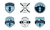 Six Different Ski and Snowboard Mountain badge patch