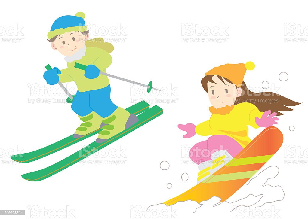 ski and snowboard set stock vector art more images of activity rh istockphoto com free clipart snow skiing