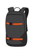 ski backpack. For logo design, patches, seal, logo or badges.