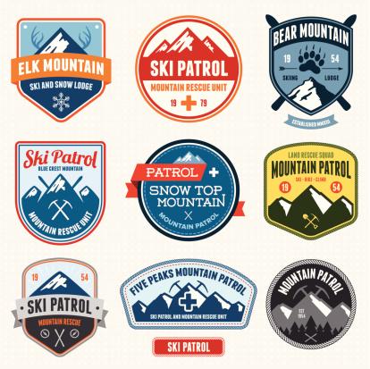 Ski badges