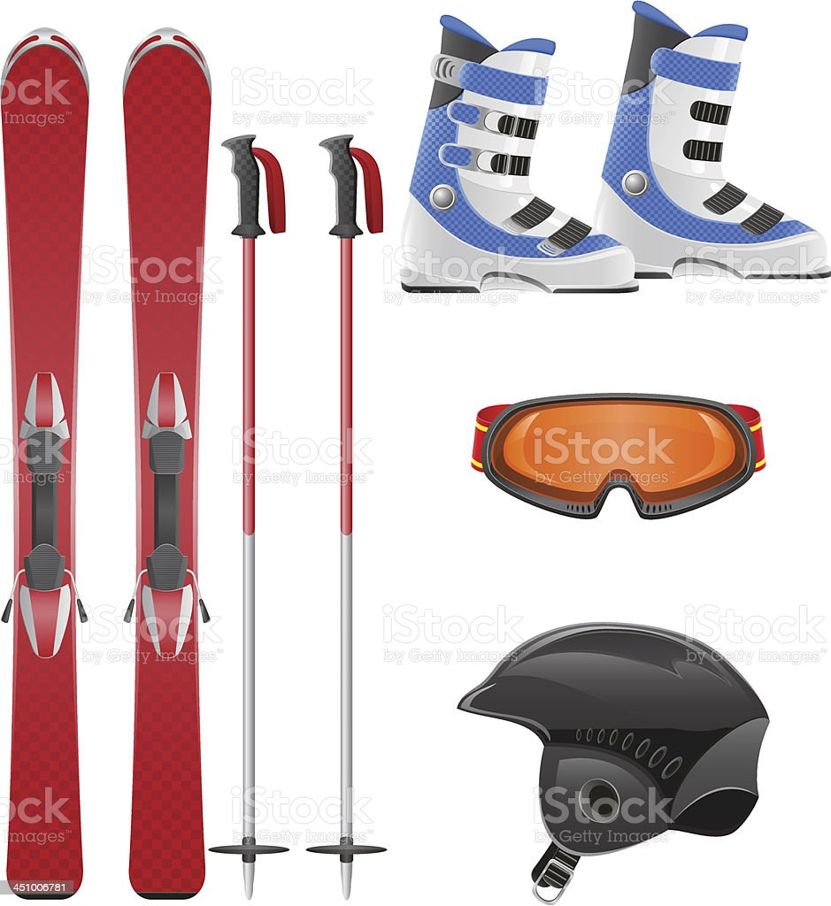 ski equipment icon set vector illustration royalty-free ski equipment icon set vector illustration stock vector art & more images of activity