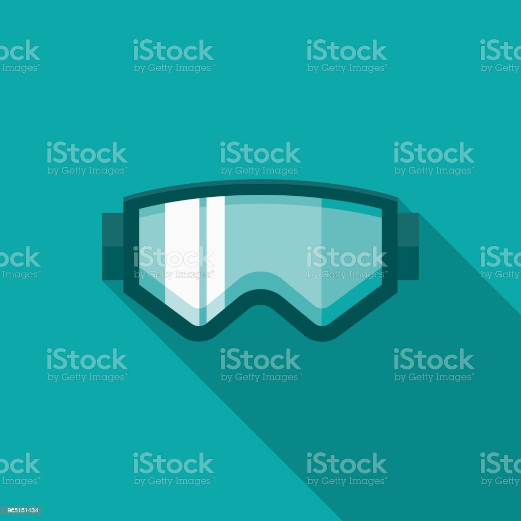 Ski Goggles Flat Design Winter Icon with Side Shadow royalty-free ski goggles flat design winter icon with side shadow stock vector art & more images of blue