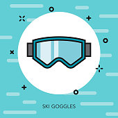 Ski Goggles Thin Line Switzerland Icon