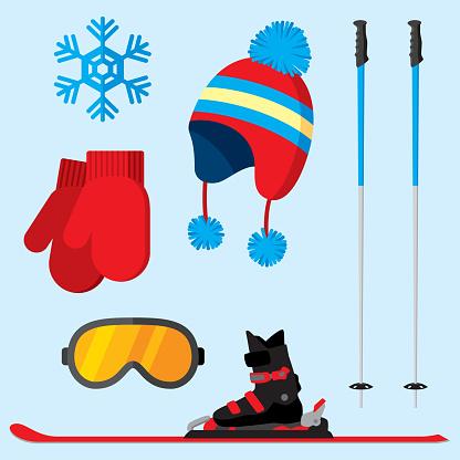 Ski Items Flat