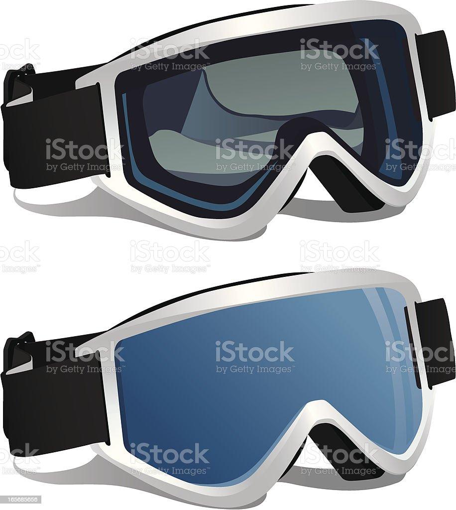 Ski or Snowboard Goggles royalty-free stock vector art