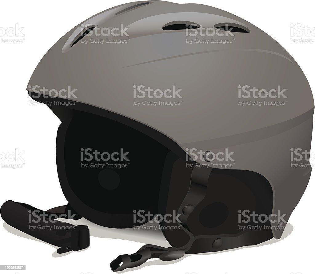 Ski or Snowboard Helmet royalty-free stock vector art