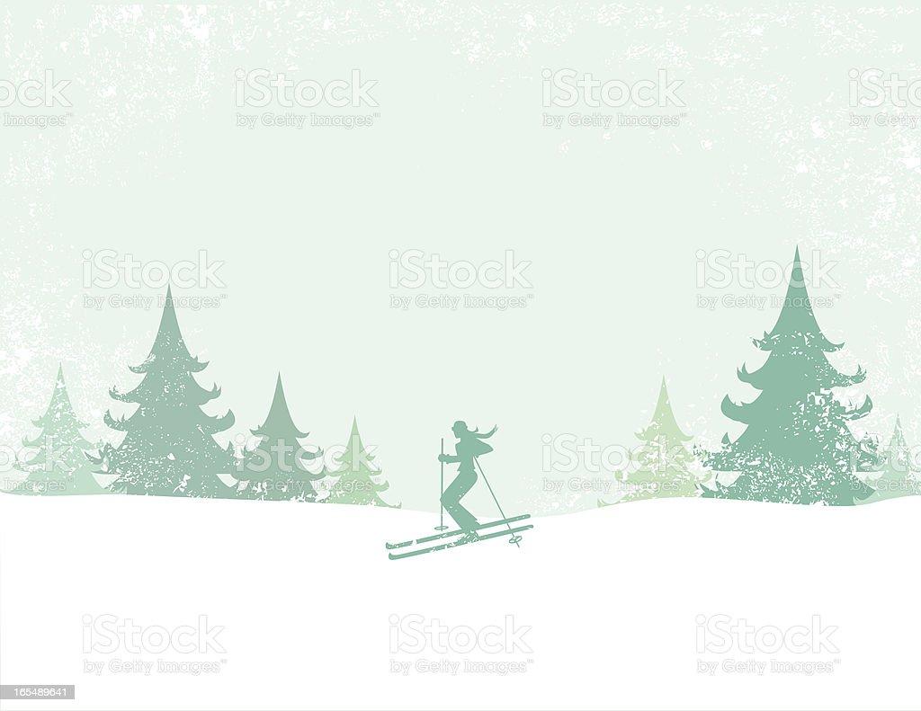 Ski vector art illustration
