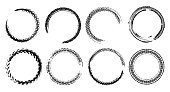 istock Skid Marks Circles Set 1250247875