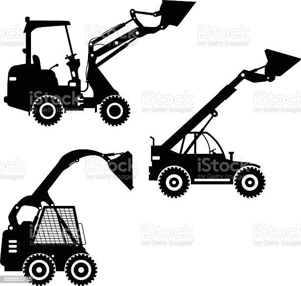 Skid steer loaders heavy construction machines vector illustration vector id538353745?b=1&k=6&m=538353745&s=612x612&h=morgsyopcqonecss 0qmhaj6wsvvfulookamrxzatcq=