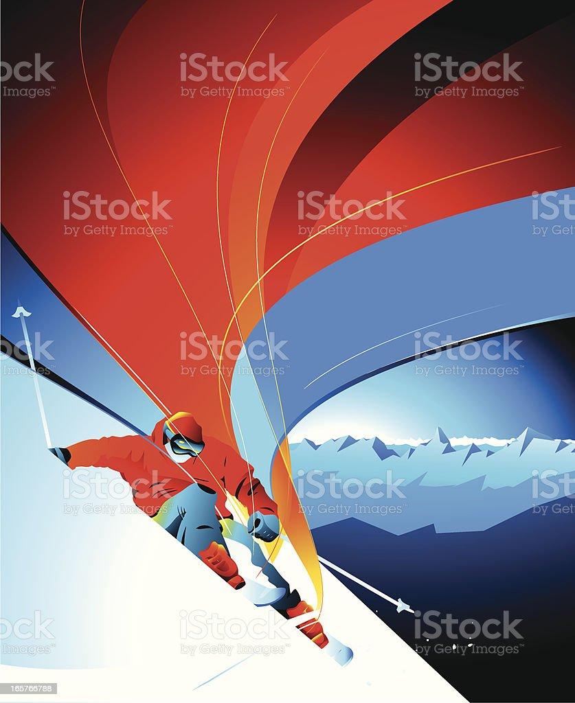 Skier. royalty-free stock vector art